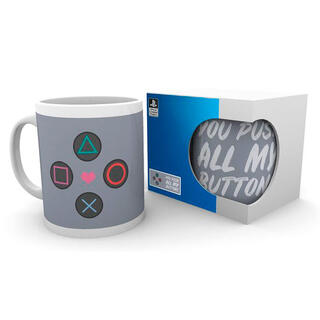Taza Push My Buttons Playstation-