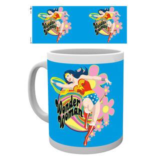 Taza Wonder Woman Flowers-