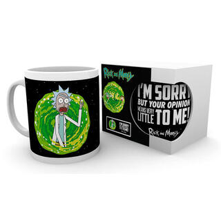 Taza Your Opinion Rick & Morty-