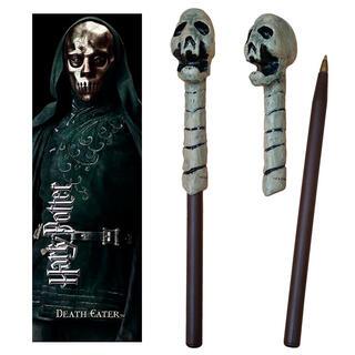 Varita Boligrafo y Marcapaginas Death Eater Skull Harry Potter-