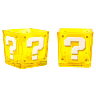 Vasos Cuadrados Question Block Super Mario Nintendo-